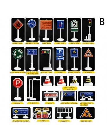 28pcs Traffic Sign set