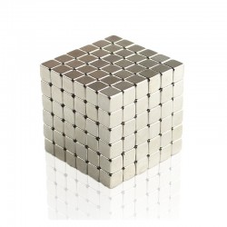Buckycubes 125-Piece Magnetic Set Nickel cube magnets