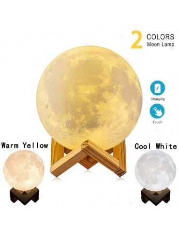 3D Print Moon Lamp Children's Night Lamp for Home