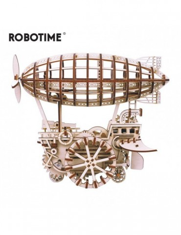 DIY Moveable Airship Gear Drive by Clockwork 3D Wooden Model Building Kits